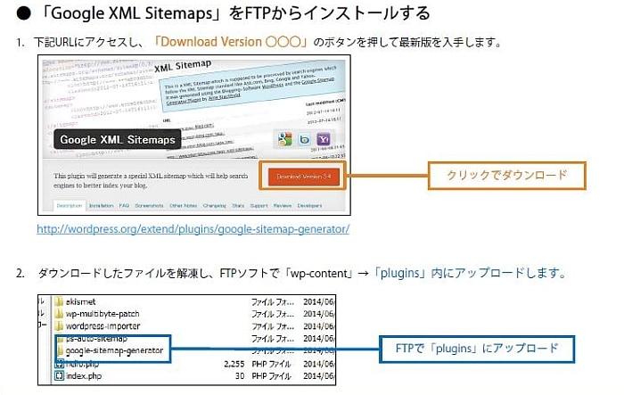 Google XML Sitemapsで、サイトマップXMLを作成する方法