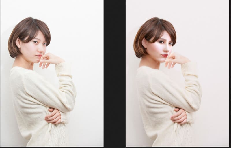 photoshopでイメージ変身。ビフォーアフター