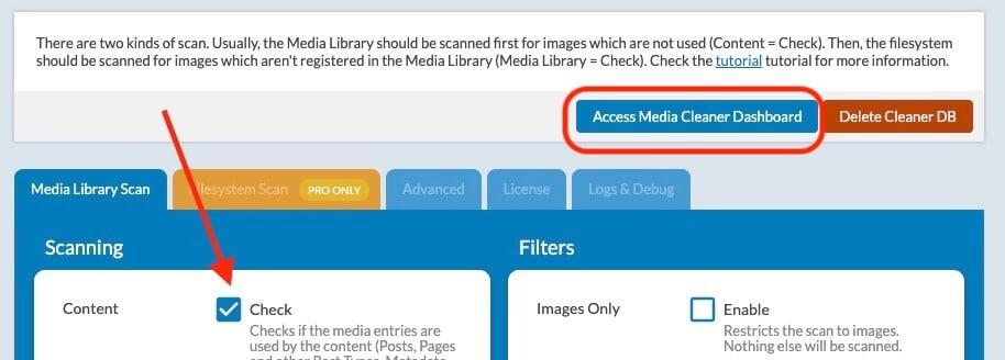 メディアライブラリから未使用画像だけをごっそり捨てるには?